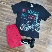 Conjunto Bermuda com Camiseta Infantil
