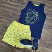 Conjunto Bermuda com Regata Skate Infantil