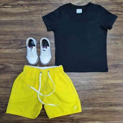 Conjunto Camiseta com Bermuda Água Infantil