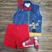 Conjunto Vermelho Mickey Mágico Infantil