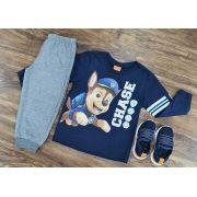 Calça de Moletom com Camiseta Manga Longa Patrulha Canina