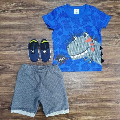 Conjunto Dino Roar Azul Infantil