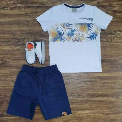 Conjunto Explore com Camiseta Branca Infantil