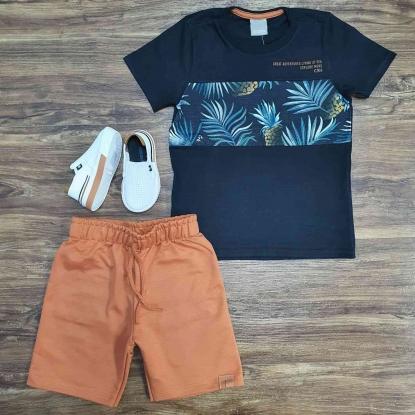 Conjunto Explore com Camiseta Preta Infantil