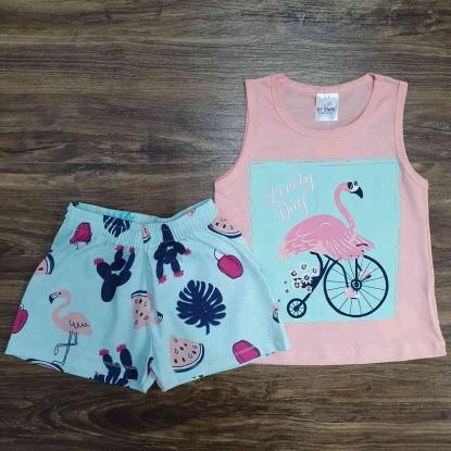 Conjunto Flamingo Infantil