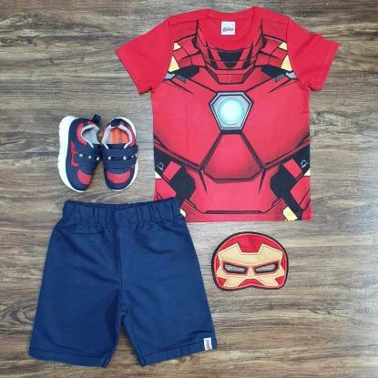 Conjunto Homem de Ferro com Máscara Infantil