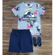 Conjunto Azul Jurassic World Infantil