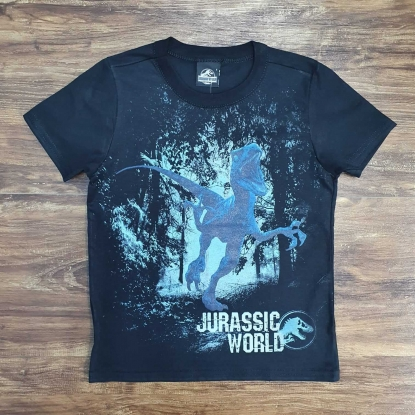 Camiseta Jurassic World Preta Infantil