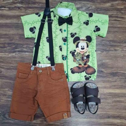 Conjunto Mickey Safari Infantil