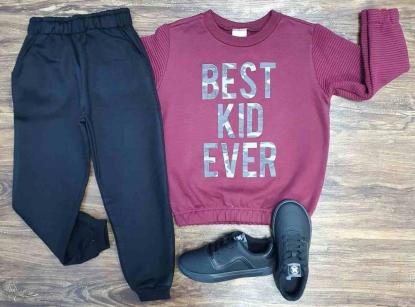 Conjunto Moletom Best Kid Ever Infantil