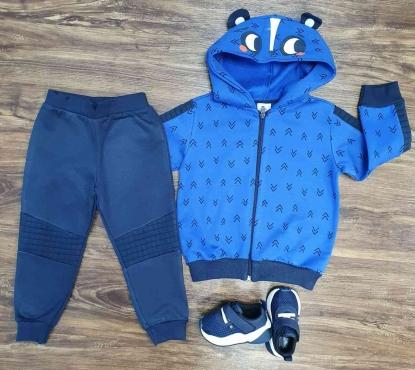 Conjunto Moletom Panda Azul Infantil