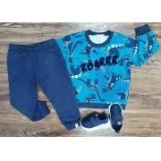 Conjunto Moletom Roarr Azul Infantil