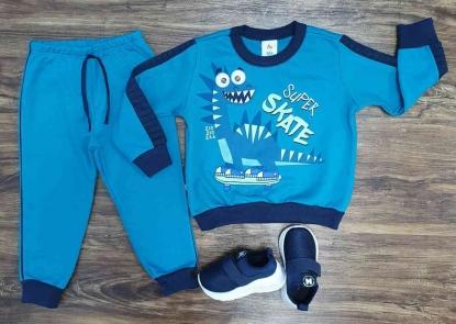 Conjunto Moletom Skater Dinosaur Infantil