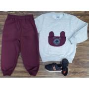 Conjunto Moletom Urso Infantil