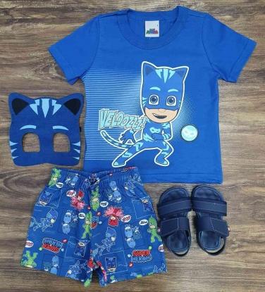 Pijama PJ Masks Menino Gato Infantil
