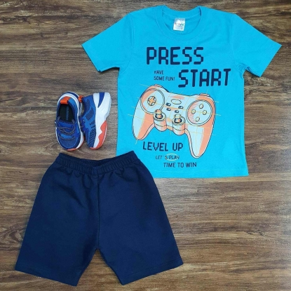 Conjunto Press Start Infantil