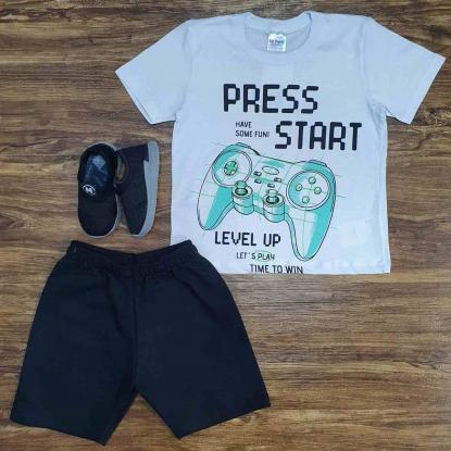 Conjunto Press Start Level Infantil