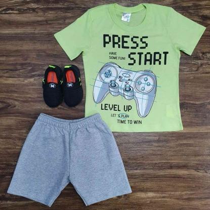 Conjunto Press Start Level Up Infantil