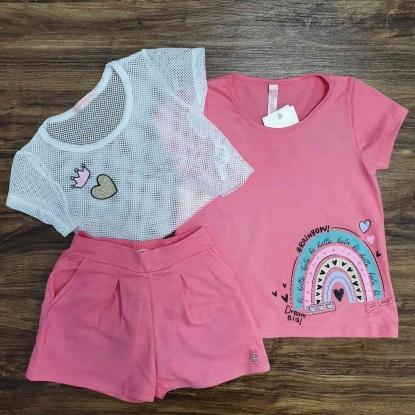 Conjunto Rainbow Rosa Infantil