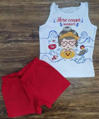 Conjunto Regata com Shorts Summer Infantil