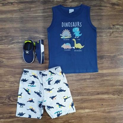 Conjunto Regata Dinossauro Infantil