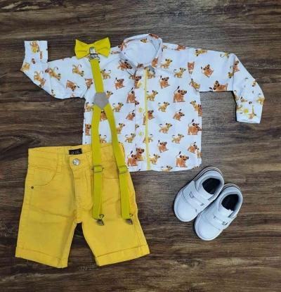 Conjunto Rei Leão com Camisa Manga Longa Infantil
