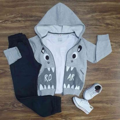 Conjunto Roar com Camiseta Branca e Calça Infantil