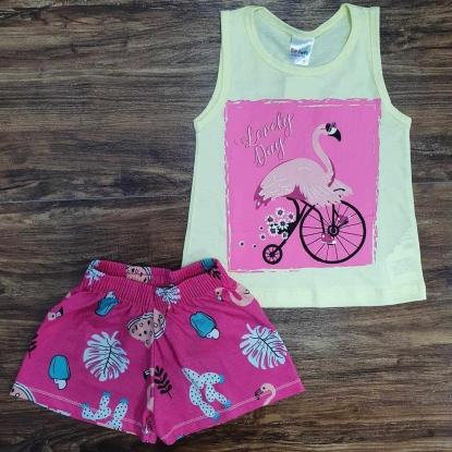 Conjunto Shorts com Camiseta Regata Lovely Day Infantil
