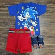 Conjunto Sonic Infantil