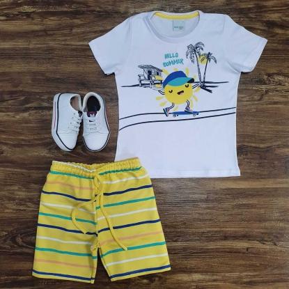 Conjunto Summer Amarelo Infantil