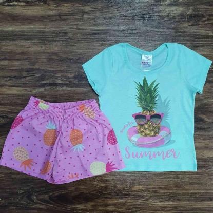 Conjunto Summer Rosa Infantil