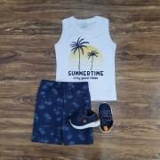 Conjunto Summer Time Branco Infantil