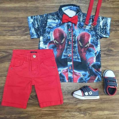 Conjunto Vermelho Homem Aranha Infantil