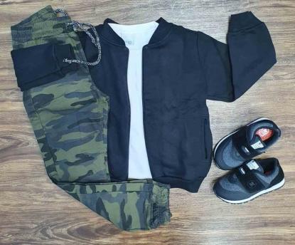 Jaqueta com Camiseta mais Calça Jogger Infantil