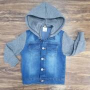 Jaqueta Jeans com Capuz Removível Infantil