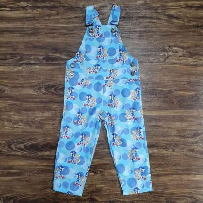 Jardineira Azul Calça Sonic Infantil