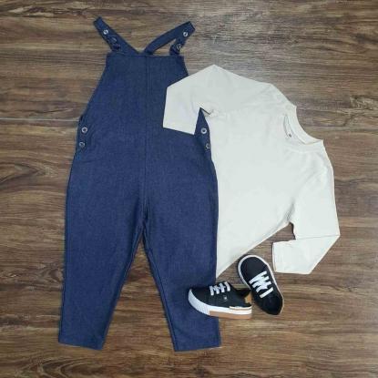 Jardineira com Camisa Manga Longa Infantil