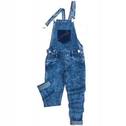 Jardineira Jeans Longa Infantil