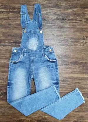 Jardineira Jeans Calça Infantil