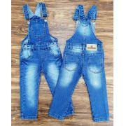 Jardineira Jeans de Calça