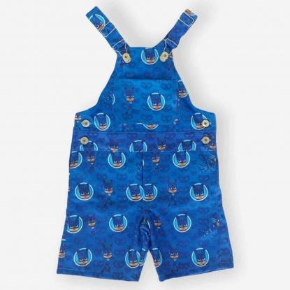 Jardineira PJ Masks Azul Infantil