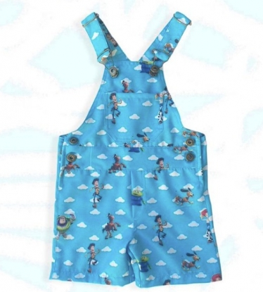 Jardineira Toy Story Azul Infantil