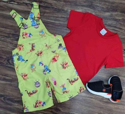 Look Vermelho Ursinho Pooh Infantil