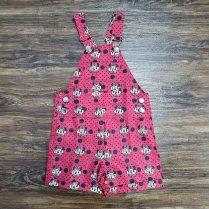Jardineira Vermelha Minnie Infantil