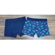 Kit 2 Cuecas Azul Boxer Infantil