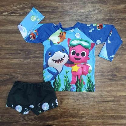 Kit Praia Baby Shark Azul 2 Infantil