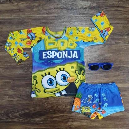 Kit Praia Bob Esponja Infantil