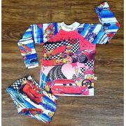 Kit Praia Carros - Sunga e Camiseta UV