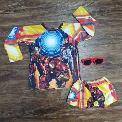 Kit Praia Homem de Ferro 2 Infantil
