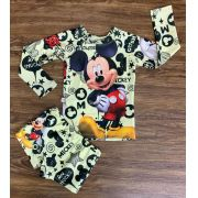 Kit Praia Mickey - Sunga e Camiseta UV